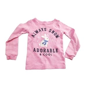 Carters Thermal Bunny Graphic Long Sleeve 3T